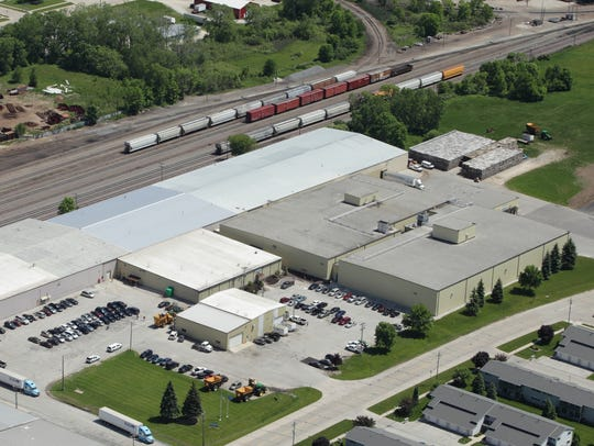 Aerial view of Lakeside Foods Manitowoc Distribution