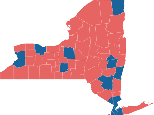 Lessons To Be Learned From NYs Electoral Map - Upstate new york map