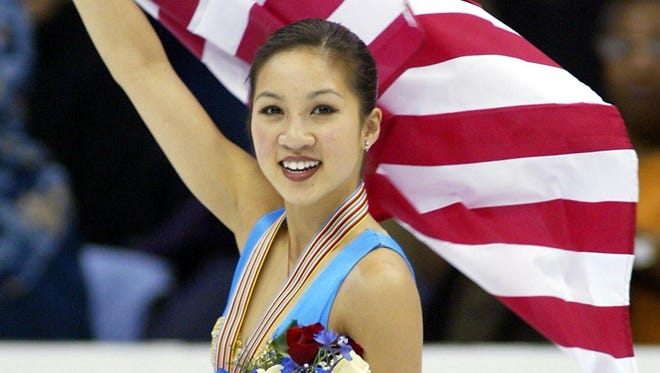 Olympic medalist Michelle Kwan, shown here in a March 29, 2003, photo, is a campaign aide to former Secretary of State Hillary Clinton. Kwan came to Arizona to help the Clinton effort in advance of the state's March 22, 2016, presidential primary election.