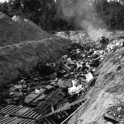Garbage dump art