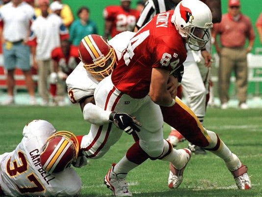 Washington Redskins safety Jesse Campbell (L) and