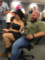 This image shows graphic content of a sex party at an office in Tinton Falls, according to attorney R. Armen McOmber.