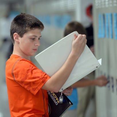 Bay View Middle School  eighth-grader Noah Oppeneer