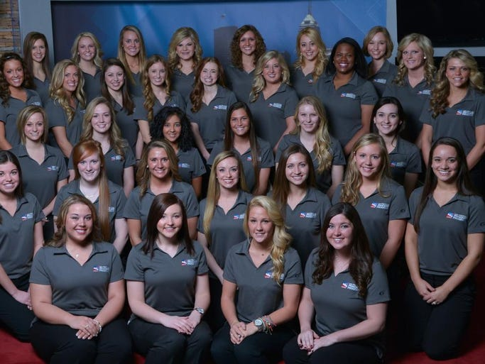 The 2014 500 Festival princesses represented nine Indiana colleges and universities and 24 cities and towns across the state. The young women were selected from more than 230 applicants based on communication skills, poise, academic performance, and community and volunteer involvement.