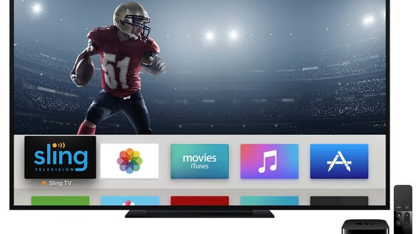 Streaming service Sling TV on Apple TV's fourth-generation