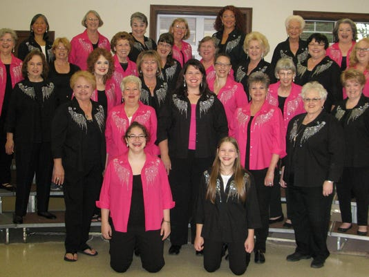 Piney Hills Harmony Chorus, fall 2015