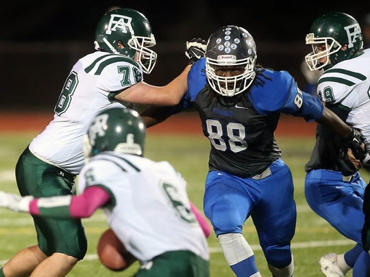 Olympic's Taleeke Davie led the Trojans with 63 tackles