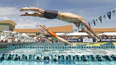 High profile swimmers such as Michael Phelps raced in Mesa the last two years, but metro Phoenix is not ranked among the nation's top 50 swim cities in a new USA Swimming commissioned study.
