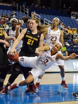 ASU's Sophie Brunner (21), shown from a NCAA Tournament game in March, helped the U.S. women to a win Friday at Pan American Games.