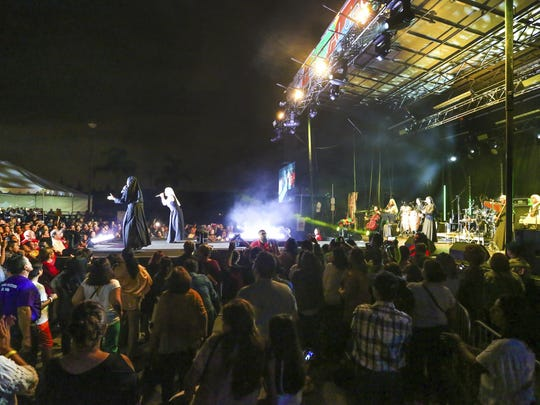 """Siervas,"" a nun rock band performs live at the Festival"