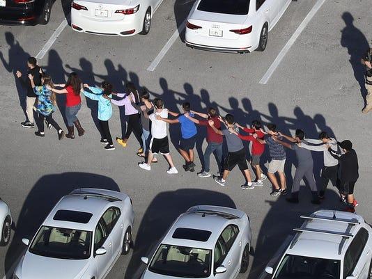 BESTPIX - Shooting At High School In Parkland, Florida Injures Multiple People