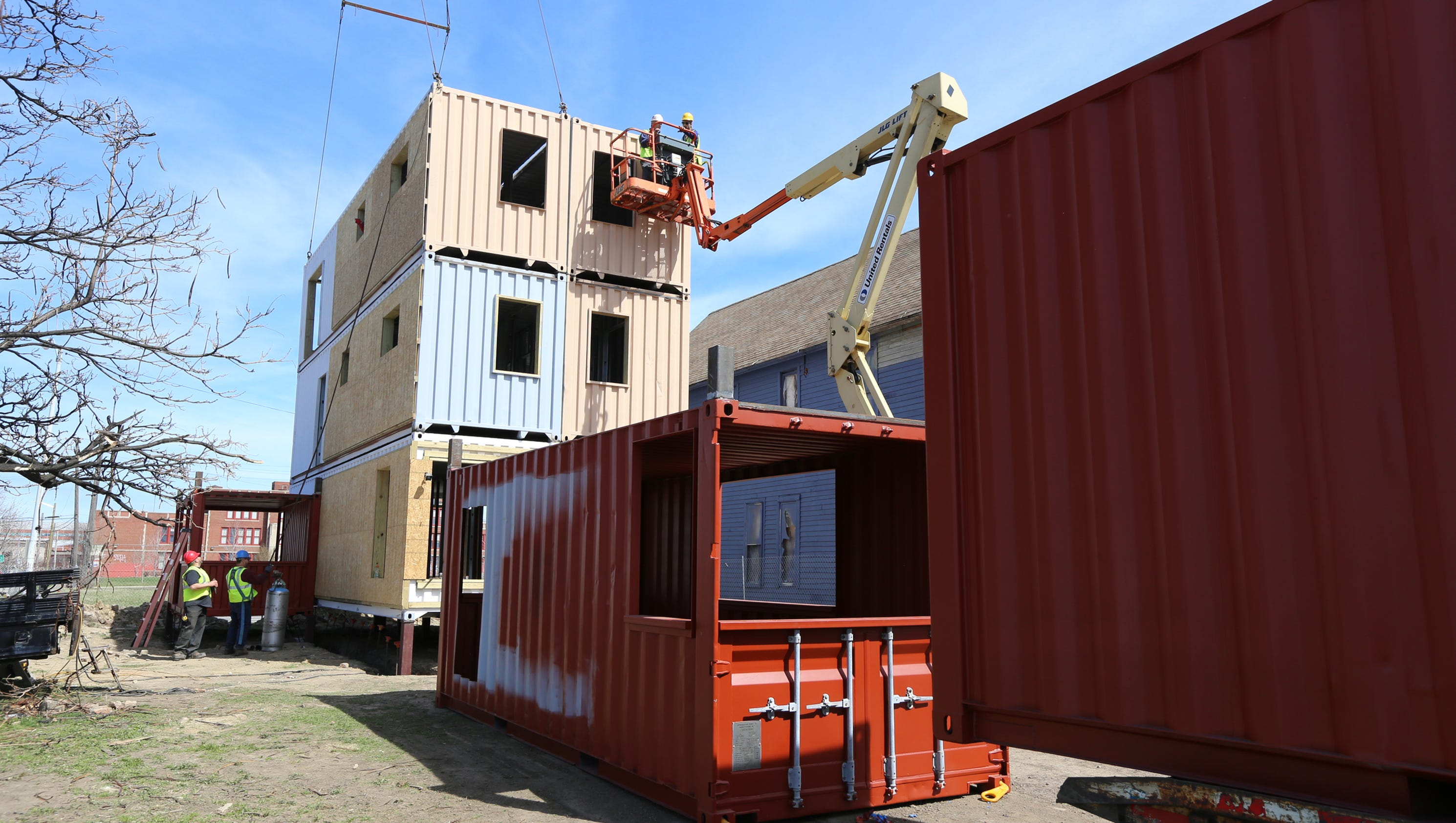 detroit shipping container project