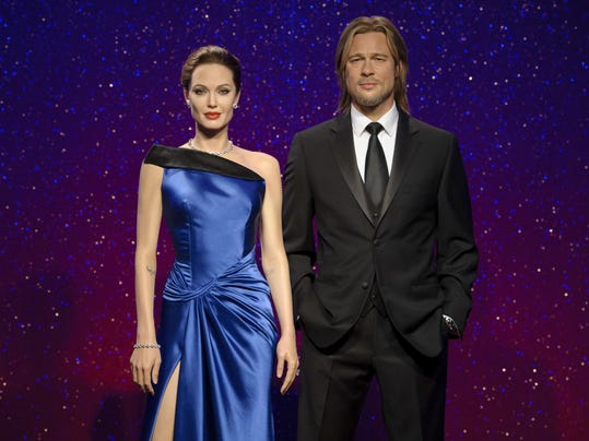 Pitt Jolie Divorce-Tussauds