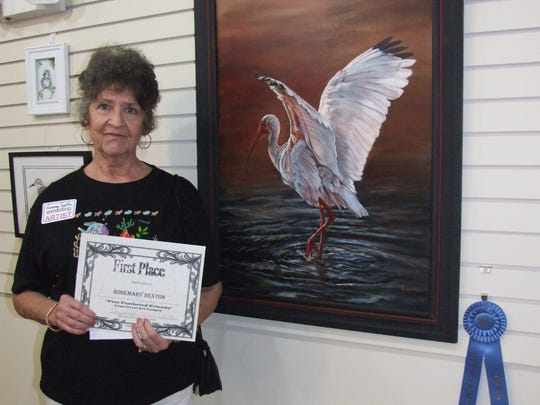 Rosemary Sexton won first place at last year's wildlife art show at the Cape Coral Art League.