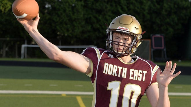 North East quarterback Keyen Skrekla.