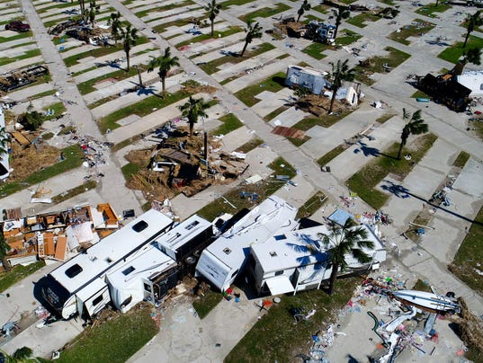 Hurricane Harvey Damage And Aftermath From A Drone