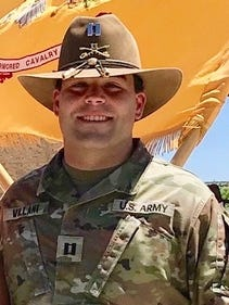 Captain Peter Villani, who is a Boxford native and is serving in the U.S. Army based at Fort Irwin in California, was named the troop commander of Blackjack Troop, 1st Squadron, 11th Armored Cavalry Regiment.