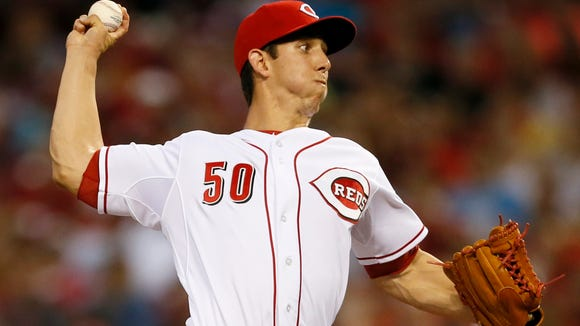 Reds starting pitcher Michael Lorenzen delivers a pitch on May 15 against the Giants.
