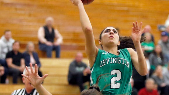 Irvington's Olivia Valdes (2) puts up a shot during