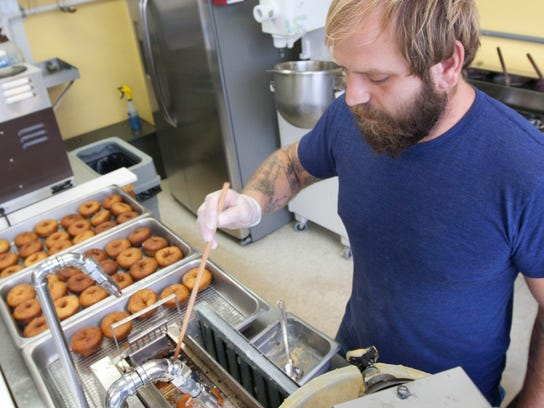 Dominic Livolsi, owner of Uncle Dood's Donuts in Toms