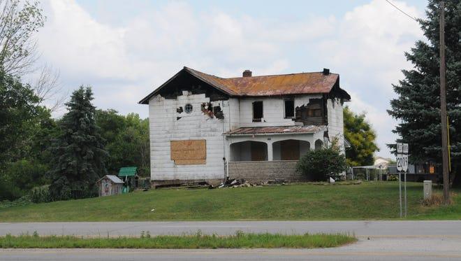 Fire damaged a house near the corner of U.S. 20 and Ohio 19.