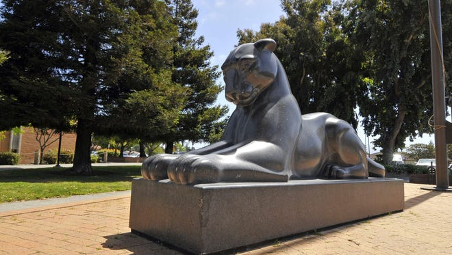 Campus statue of Hartnell College's mascot, the Panther.