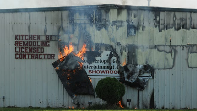 Fire broke out at an Omro furniture and cabinet manufacturer about 4:30 PM September 16, 2014.  Fire Departments from Omro Rushford,  Winneconne, Town of Algoma and Oshkosh responded to the structure fire.