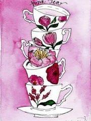 4. Pink Tea artwork by Crystina Castiglione