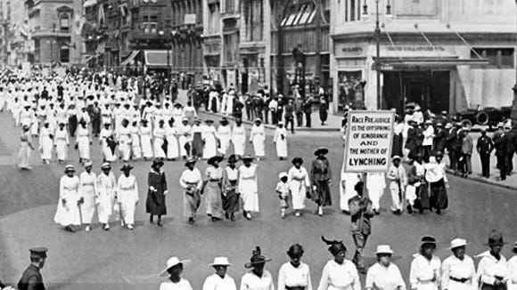 In 1917, up to 10,000 African Americans paraded in