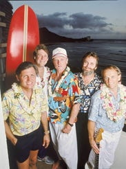 The Beach Boys in 1987, from left: Bruce Johnston,