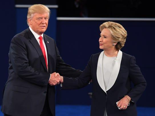Democrat Hillary Clinton and Republican Donald Trump