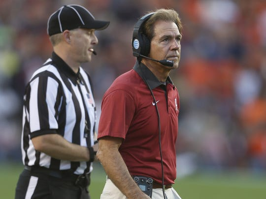 Coach Nick Saban has won five national titles in the SEC, four at Alabama and one at LSU.