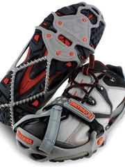 Yaktrax fit over almost all shoes.