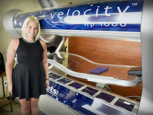 B_Golden Tanning Salon, 46 North Londonderry Square in North Londonderry Township, opened its doors May 5, featuring Level II beds as well as high pressure tanning. Owner Megan Ross recently took over the former Extreme Tans.