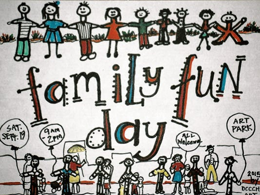 Courtesy Photo   This poster says it all. Don't forget the Family Fun Day from 9 a.m. to 2 p.m., Saturday at the newly named Arts Park (formerly Pocket Park) located at the 100 block of East Pine St.