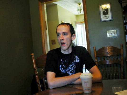 Jon Acre, 27, of Chambersburg, talks Friday about the treatment he needs and the limitations on his life as a result of having Immune Thrombocytopenia (ITP), a rare blood disorder.