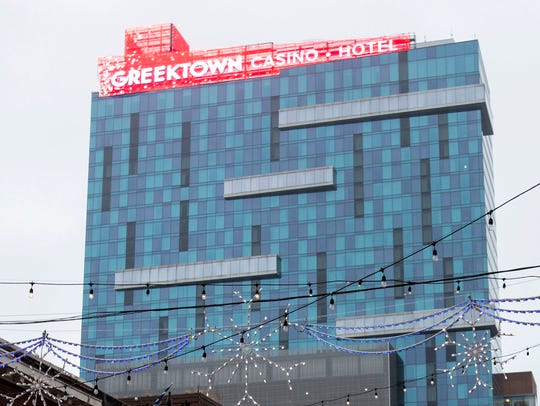 The Greektown Casino-Hotel in Detroit has a new sign.
