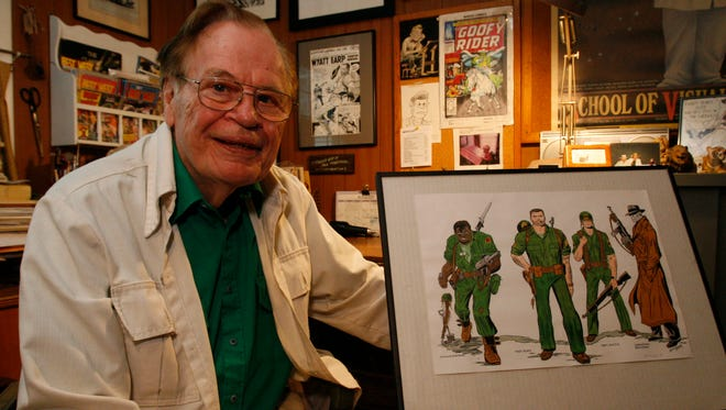 Dick Ayers, a renowned comic book artist and illustrator, is photographed at his home in White Plains Aug. 10, 2007.