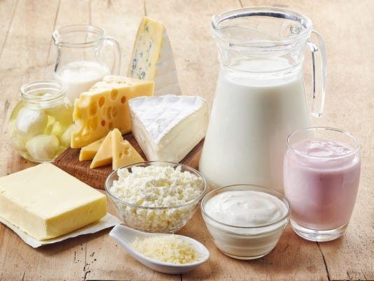 Various fresh dairy products