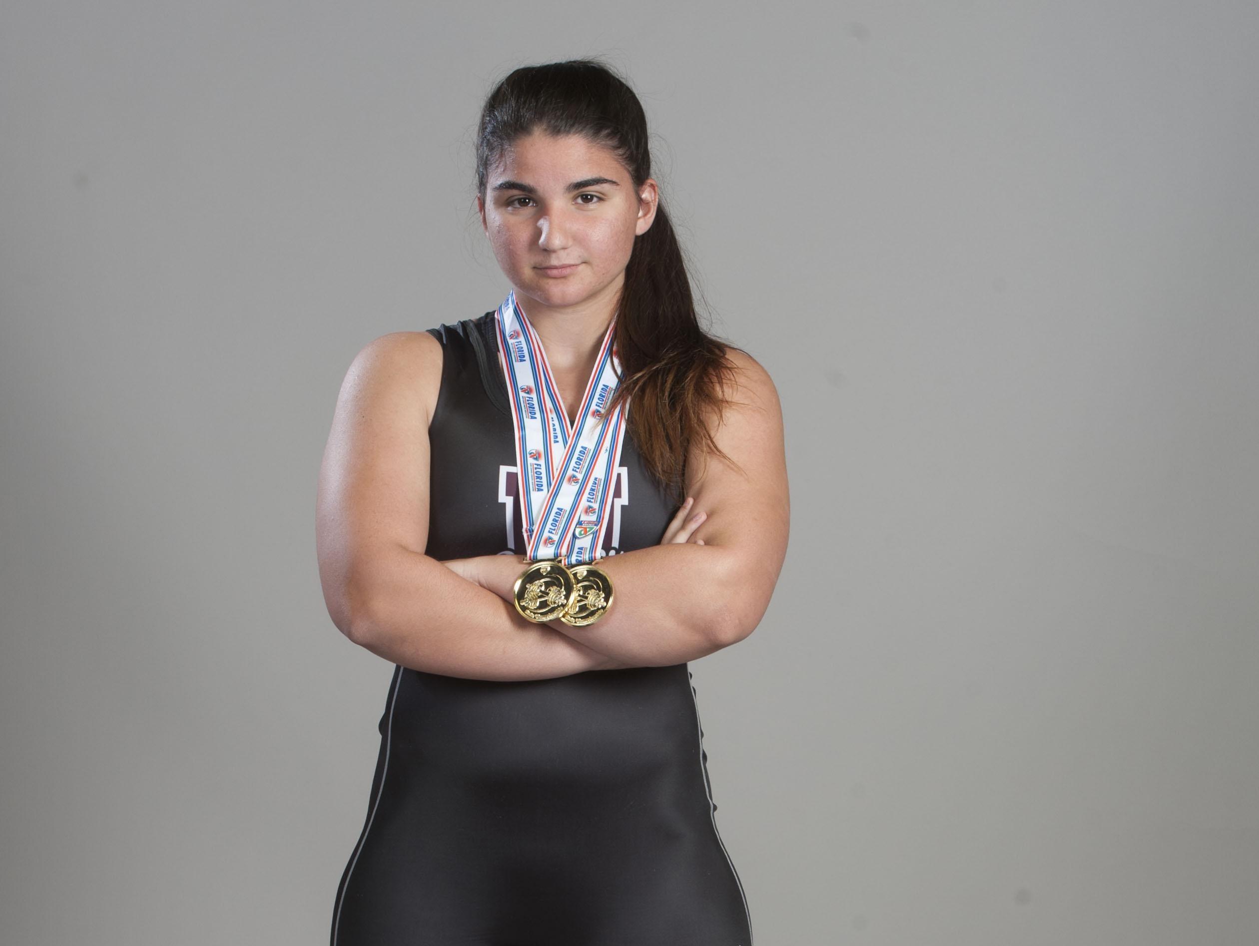 Olivia Brahms, Navarre weightlifting