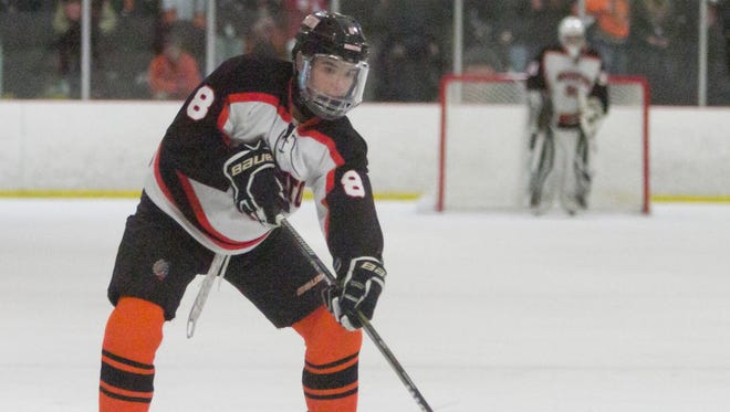Tim Erkkila of Brighton made the all-state hockey Dream Team after making first-team all-state as a sophomore last season.