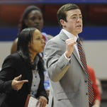 Techsters coach Tyler Summitt (right) leads his team against North Texas on Saturday.