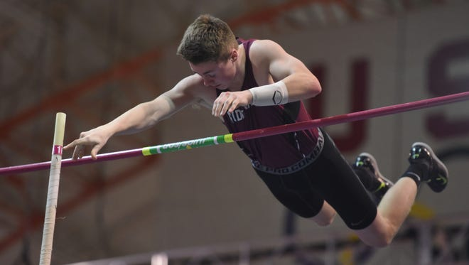 20026912A.2.15.2017.NYC.Bergen Indoor Track Championship:  Ryan Vimba, a senior, helped lead Ridgewood, The Record Boys Indoor Track Team of the Year, to a series of titles in the 2016-17 season. Viorel Florescu/NorthJersey.com