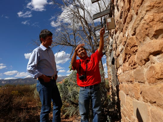 At right, Melvin H. Yazzie, senior reclamation specialist