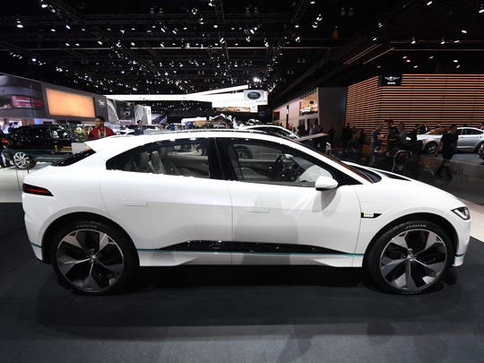 The exterior of the new Jaguar I-Pace concept electric
