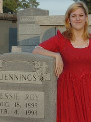 Claire Vidrine will portray Bessie Roy Jennings in the upcoming St. Landry Catholic Church Cemetery Tour which begins Saturday.