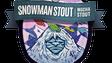 Jackalope Brewing's snowman Stout label.