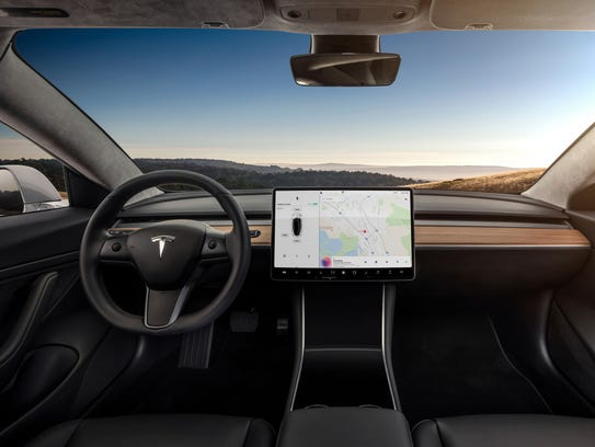 This undated image provided by Tesla shows the Tesla