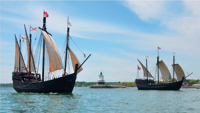 Replicas of Christopher Columbus' ships the Nina and the Pinta dock in Southwest Florida April 5 and depart April 16, with tours given through April 15.