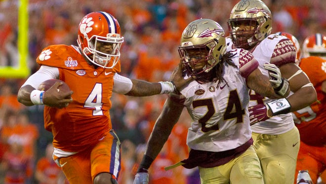 Clemson and quarterback Deshaun Watson held off a strong effort from Florida State on Saturday.